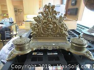 Brass Inkwell A