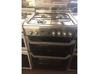 STAINLESS STEEL 60CM INDESIT GAS COOKER