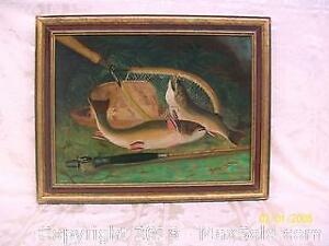 c. 1880 Original Oil on Canvas Painting by listed German artist B. Kreutzer