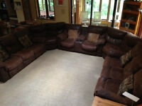 brown couch - 10 seater sectional - Ashley furniture