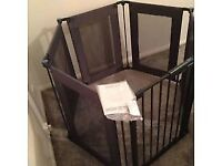 Lindam Safe And Secure Fabric Playpen - Navy blue.