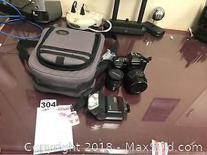 Yashica Camera And Accessories A