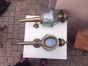 Old brass lamps