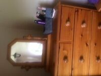Bedroom Pine Furniture good condition great price.