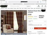 Curtains Dunelm Highland check