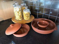 terracotta serving dishes