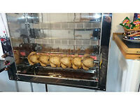 Grill -Roasted Chicken Gas Grill ( 18 Chickens ) + baskets for small meat parts