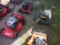 SIX PETROL LAWN MOWERS SPARES OR REPAIR CAN DELIVER