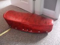 LAMBRETTA SEAT COVER, CLIPS OVER EASILY, GOOD CONDITION, RED