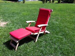Chaise longue en bois de teck