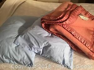 Wool Blanket And 2 Pillows C