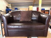 Sofa / brown leather