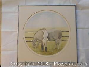 Watercolour Signed and Dated 1978 by Sinja Son, Listed Canadian Artist