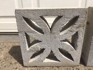 Vintage Concrete Garden Wall Blocks (10 in total)