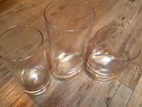 Different sizes-water glasses-mostly new-each 0.50