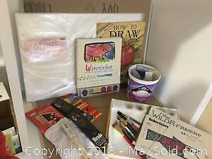 Artist Lot For Watercolours Drawing