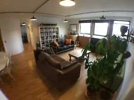 double room in open plan city center apartment