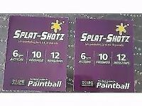 Splat-shotz Childrens paint ball tickets (valid until 24/03/2018) x 20 for 8,9,10 year olds
