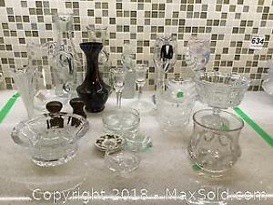 Vases and Glassware A
