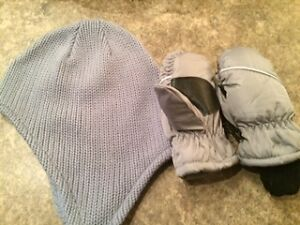 Cute 18mth-3year Hat and Mitt Set; Brand New -Never Worn.