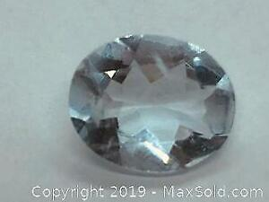 One Oval Brazilian Aquamarine tcw 2.5ct