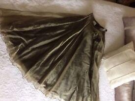 Stunning Frank Usher Gold Skirt size 12 - £30