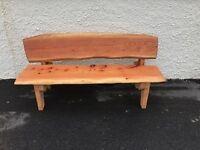 Wooden chunky garden bench handmade