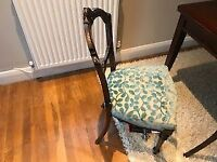 Antique dining chairs - newly upholstered - 6