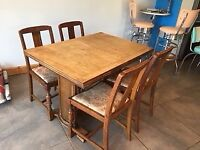 Table and chairs for upcycling