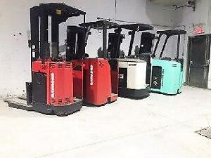 Liquidation de Chariot elevateur Electrique Raymond Crown Mitsubishi Reach,Dockstocker Forklift electric Sold