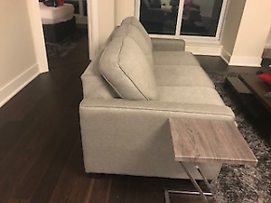 Silver-grey sofa bed