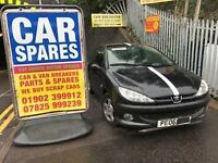 2006 Peugeot 206 1.4 Petrol 3dr Breaking For Spares