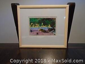 Framed & Matted Print of Colourized Boat on the Beach in Ilha Grande-Brasil