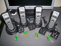 Idect quad telephone and answering system