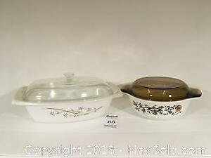 Two Vintage Pyrex Casserole Dishes - Pickup A