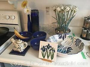 Kitchenware and Blue Decor A