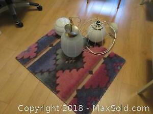 Rug, Vintage Lamp and more A