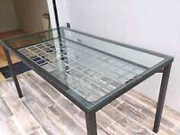 Elea Glass Dining Table