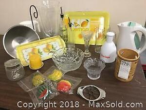 Tea Kettle, Chopper, Crystal Bowl, Serving Trays
