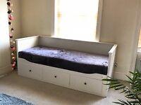 IKEA Hemnes Day Bed - 3 Drawers + 2 mattresses