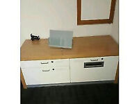 Modern Office White Storage and Filing Drawers/Cupboard