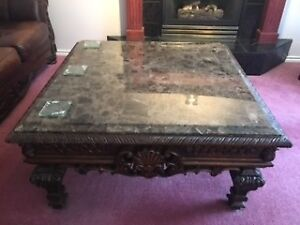 marble coffee table an end table