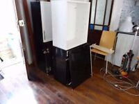 BLACK HIGH GLOSS DOORS KITCHEN UNITS THEY ARE IN NEW CONDITION