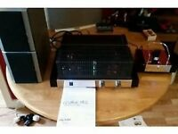 fatman itube 182 valve amp with dock and 2 goodmans speakers