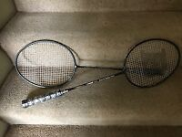 A pair of Badminton rackets