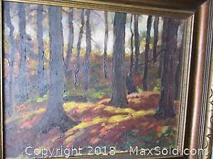 1940's Original Oil Painting, Unsigned By Panton.