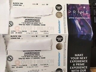*REDUCED* Jamiroquai 2 x Tickets *GREAT LOWER TIER SEATS* in Manchester Arena - 2nd Nov 2017