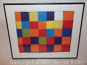Abstract art by Paul Klee lithograph