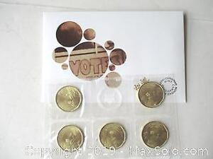 1916-2016, 100Th Anniversary Of Women's Right To Vote, Special Edition, Royal Canadian Mint, Set Of One Dollar Coins.