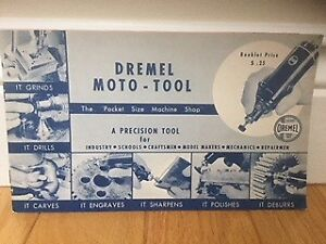 Dremel Moto-Tool Package including Multiple Accessories(Vintage)